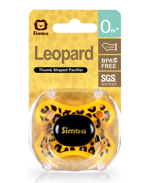 Leopard Spots Thumb Shaped Pacifier (0+M)