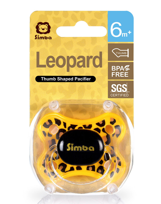 Leopard Spots Thumb Shaped Pacifier (6+M)
