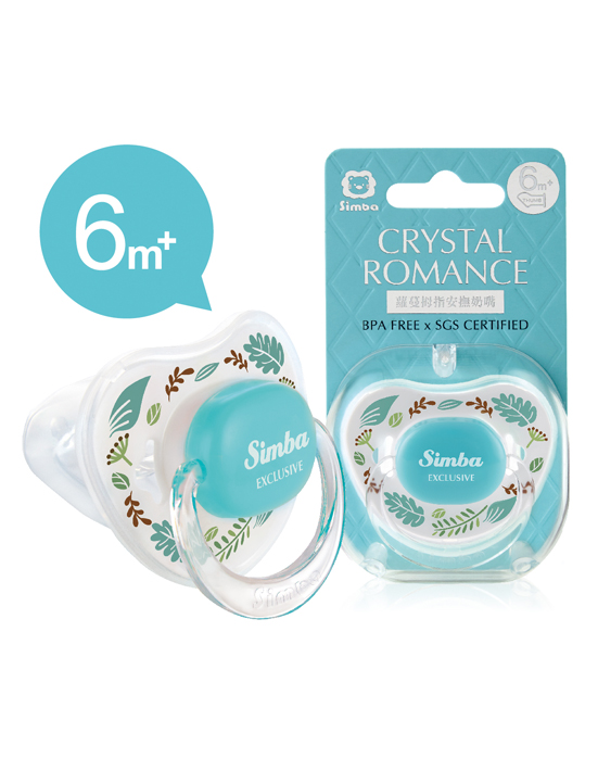 Crystal Romance Pacifier-Herb (6+M)